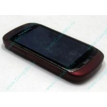 Красно-розовый телефон Alcatel One Touch 818 (Архангельск)