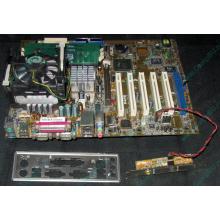 Материнская плата Asus P4PE (FireWire) с процессором Intel Pentium-4 2.4GHz s.478 и памятью 768Mb DDR1 Б/У (Архангельск)