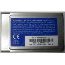 Сетевая карта 3COM Etherlink III 3C589D-TP (PCMCIA) без LAN кабеля (без хвоста) - Архангельск